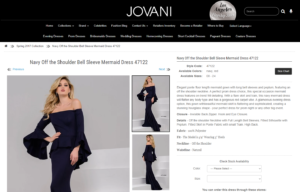 Jovani Product Page