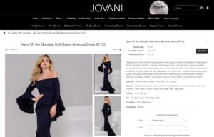 Jovani Product Page