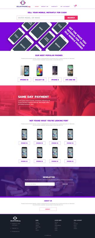 Sell My Phone Chosen Site Design