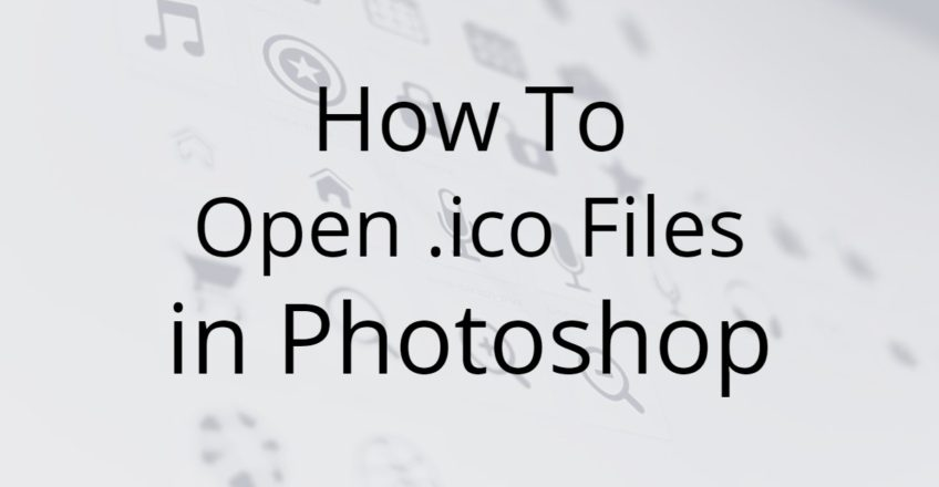 Open .ico Files in Photoshop